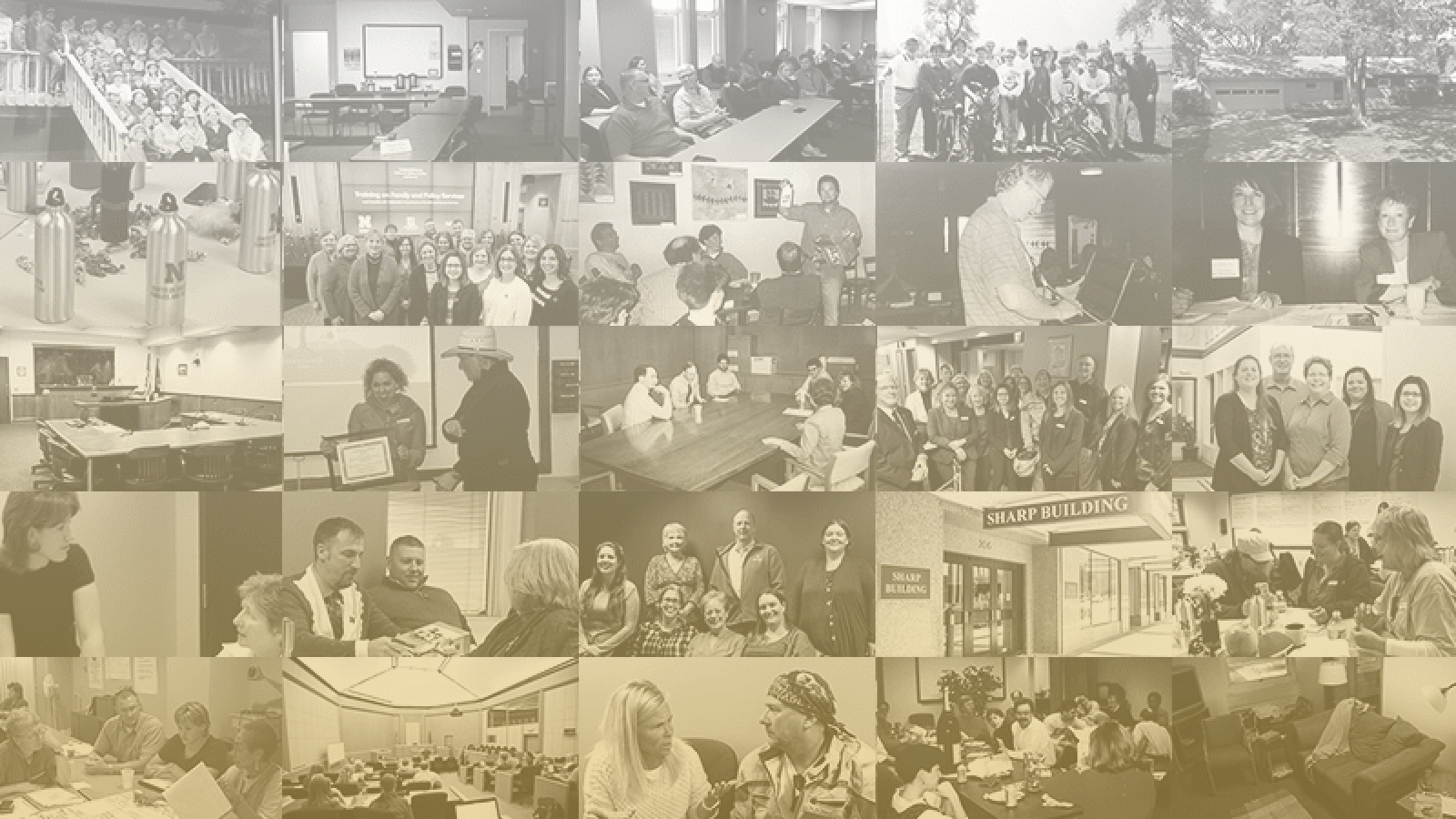 Collage of people and places in CCFL