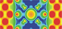 Charge density in a Fe/MgO/Fe tunnel junction which contains O vacancy