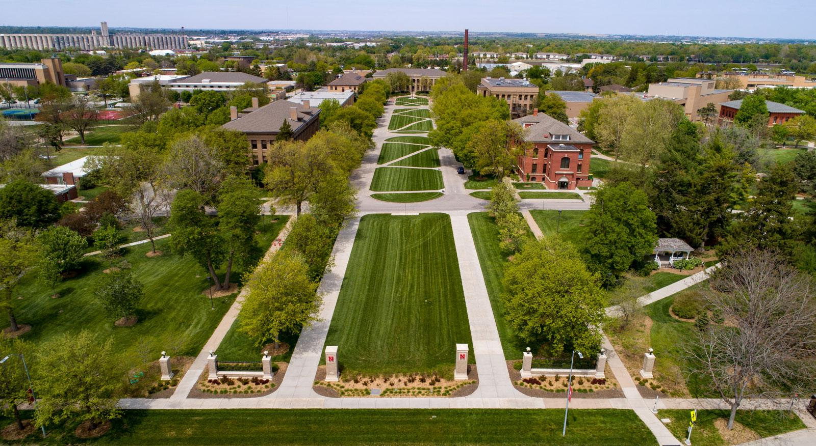 Aerial photo of East Campus
