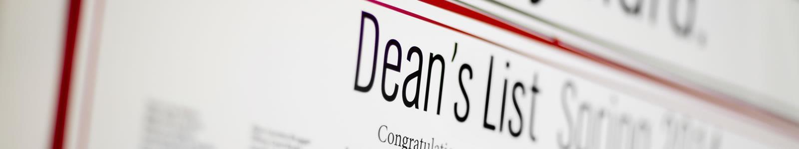 deans list page header
