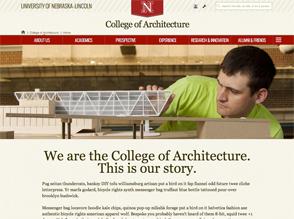 screenshot of a website in the UNL 4.0 theme